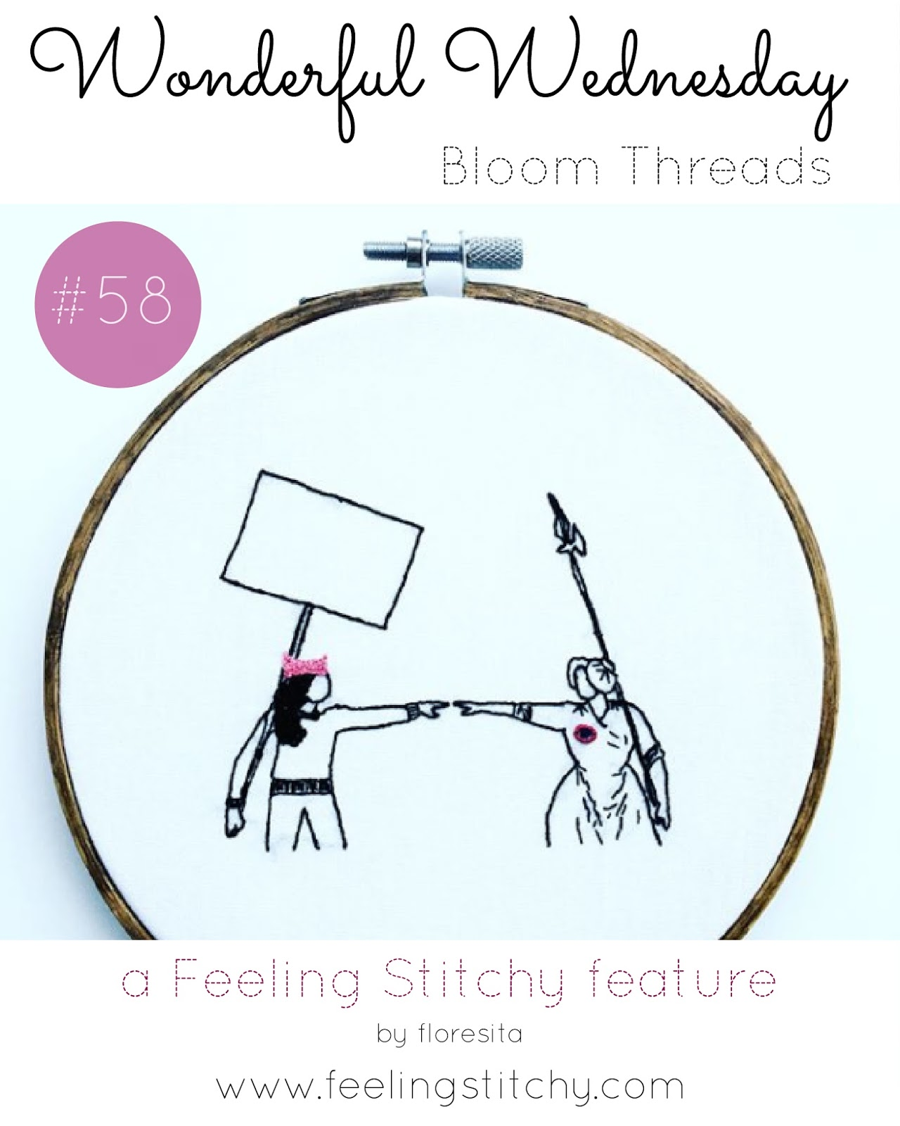 Wonderful Wednesday 58 - Bloom Threads, a Feeling Stitchy feature by floresita