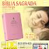 BÍBLIA GRANDE ROSA, COM HARPA LETRA GRANDE