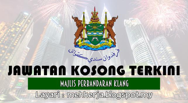 Jawatan Kosong Terkini 2016 di Majlis Perbandaran Klang