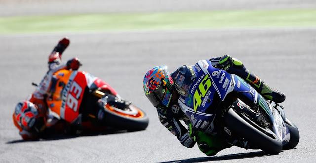 Rossi : Marquez Kuat, Saya Selalu Senang Finis di Depannya