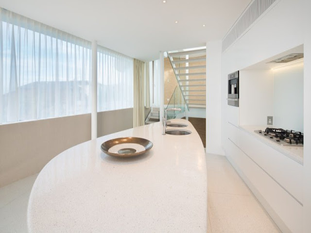 Minimalist white kitchen