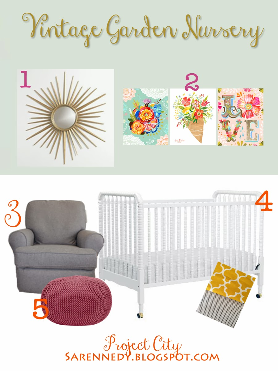 Project City: Indianapolis Edition: Baby Girl Nursery Mood ...
