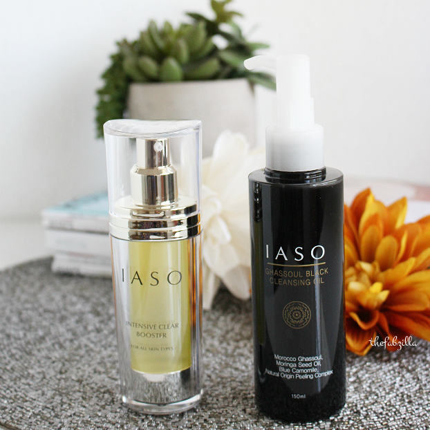 korean skincare tips, IASO Intensive Clear Booster, IASO  Ghassoul Black Cleansing Oil