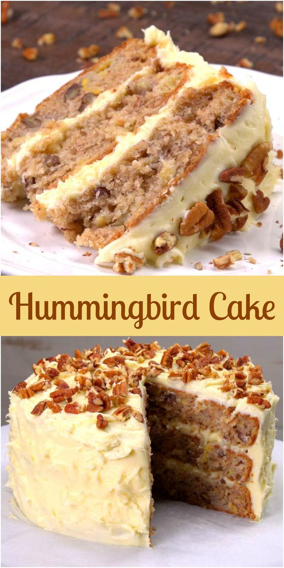 "How can you tell if someone isn't from the South? They read the name of this recipe and ask, ""What is a hummingbird cake?"" Well, hummingbird cake is an incredibly dense and moist layer cake with banana, pineapple, and warm spices, covered with swirls of rich cream cheese frosting and crunchy toasted pecans on top. And if you've never had it — but you're a fan of banana cake, pineapple upside-down cake, or carrot cake — you're going to be thoroughly charmed by our easier-than-you'd-expect hummingbird cake recipe."