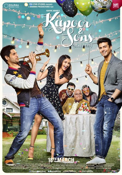 Poster Of Kapoor And Sons 2016 480p Hindi pDVDRip Full Movie Download