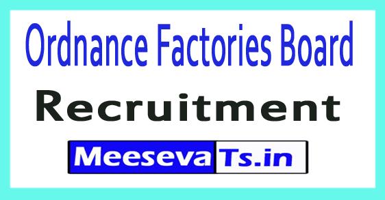 Ordnance Factories Board OFB Recruitment