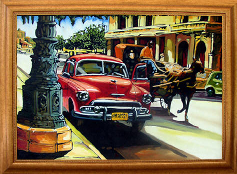 Classic American Car Paintings