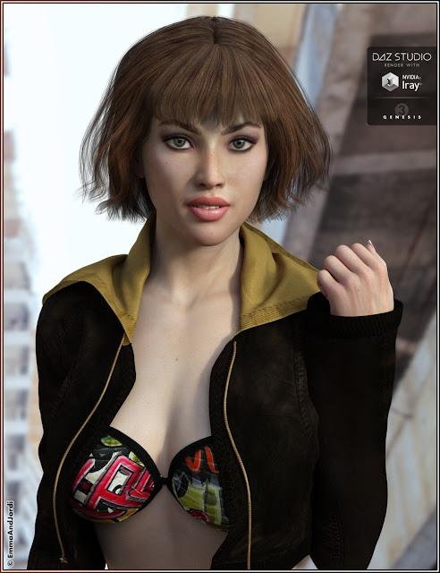 Suzie Hair for Genesis 3 Female