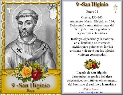 Resultado de imagen de San Higinio, Papa