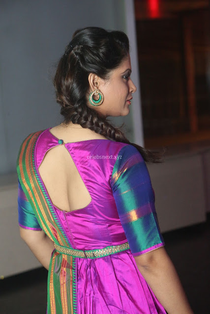Shilpa Chakravarthy in Purple tight Ethnic Dress ~  Exclusive Celebrities Galleries 006.JPG