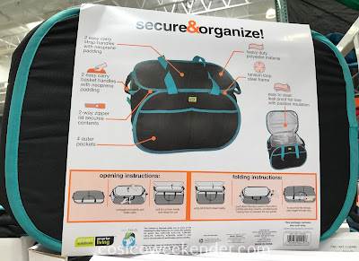 Costco 1136446 - Keep food and groceries cool with the Smart Design Pop-up Insulated Organizer