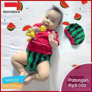 NAG233 Baju Bayi Jumper Buah Semangka Watermelon Murah Bmgshop