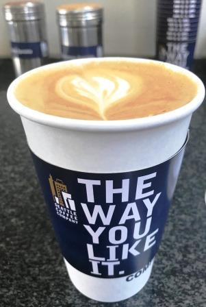 "Seattle coffee with slogan ""the way you like it"""