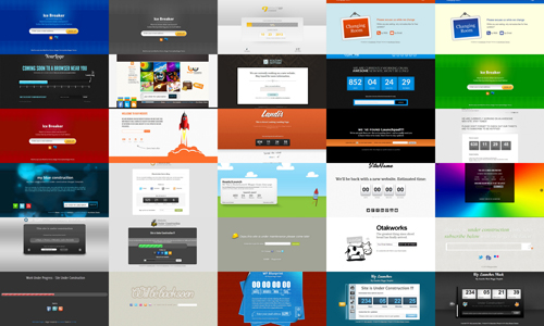 30 Blogger Templates for Under Construction
