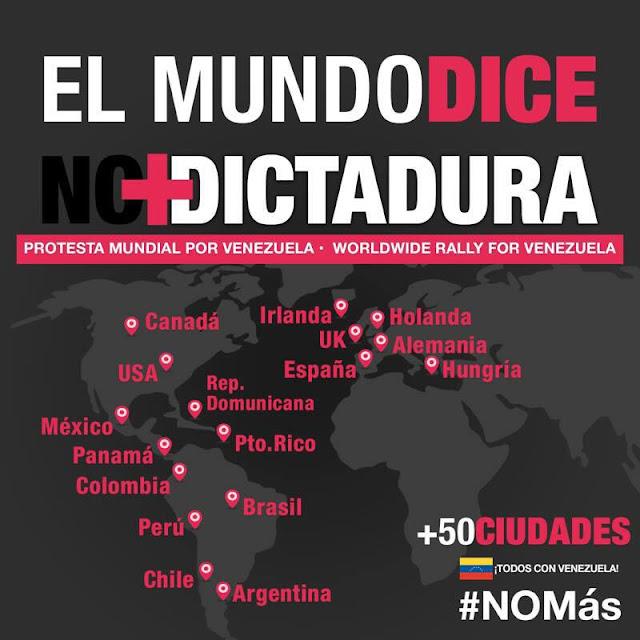 Más de 50 ciudades protestarán este sábado en contra de la represión en Venezuela