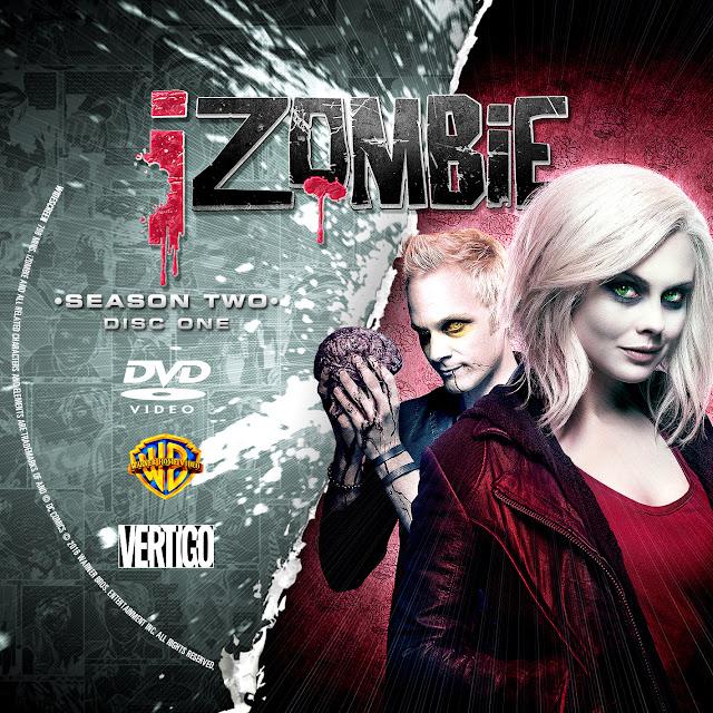 Label DVD IZombie Segunda Temporada D1 a D5