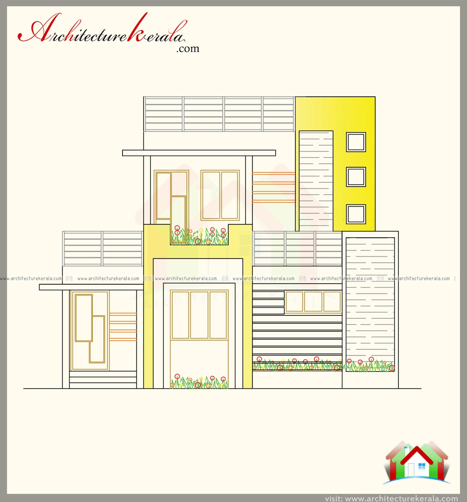 1300 square feet contemporary house with three bedrooms for Cost to build 1300 square foot house