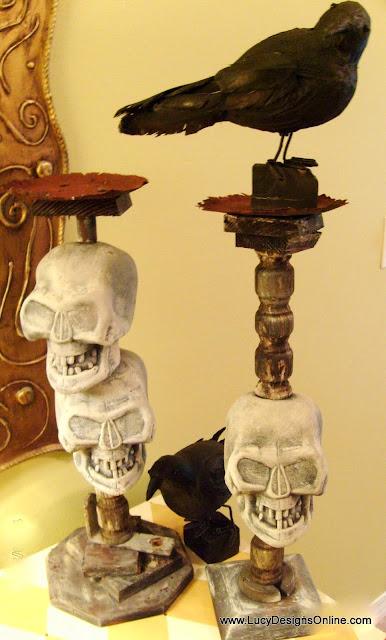 Halloween ravens DIY and dollar store decor