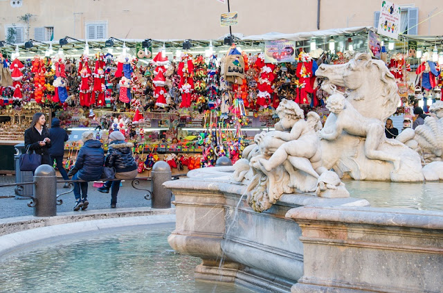 Mercadinho de Natal na Piazza Navona em Roma