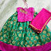 Sea Green Pink Silk Lehenga