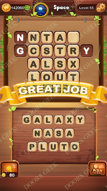 Word Bright Level 55 Answers, Cheats, Solutions, Walkthrough for android, iphone, ipad and ipod