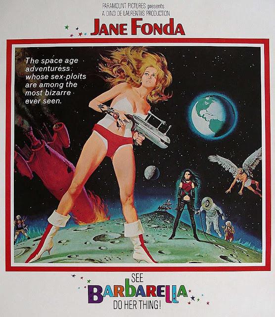Barbarella 1968 sexy original film poster