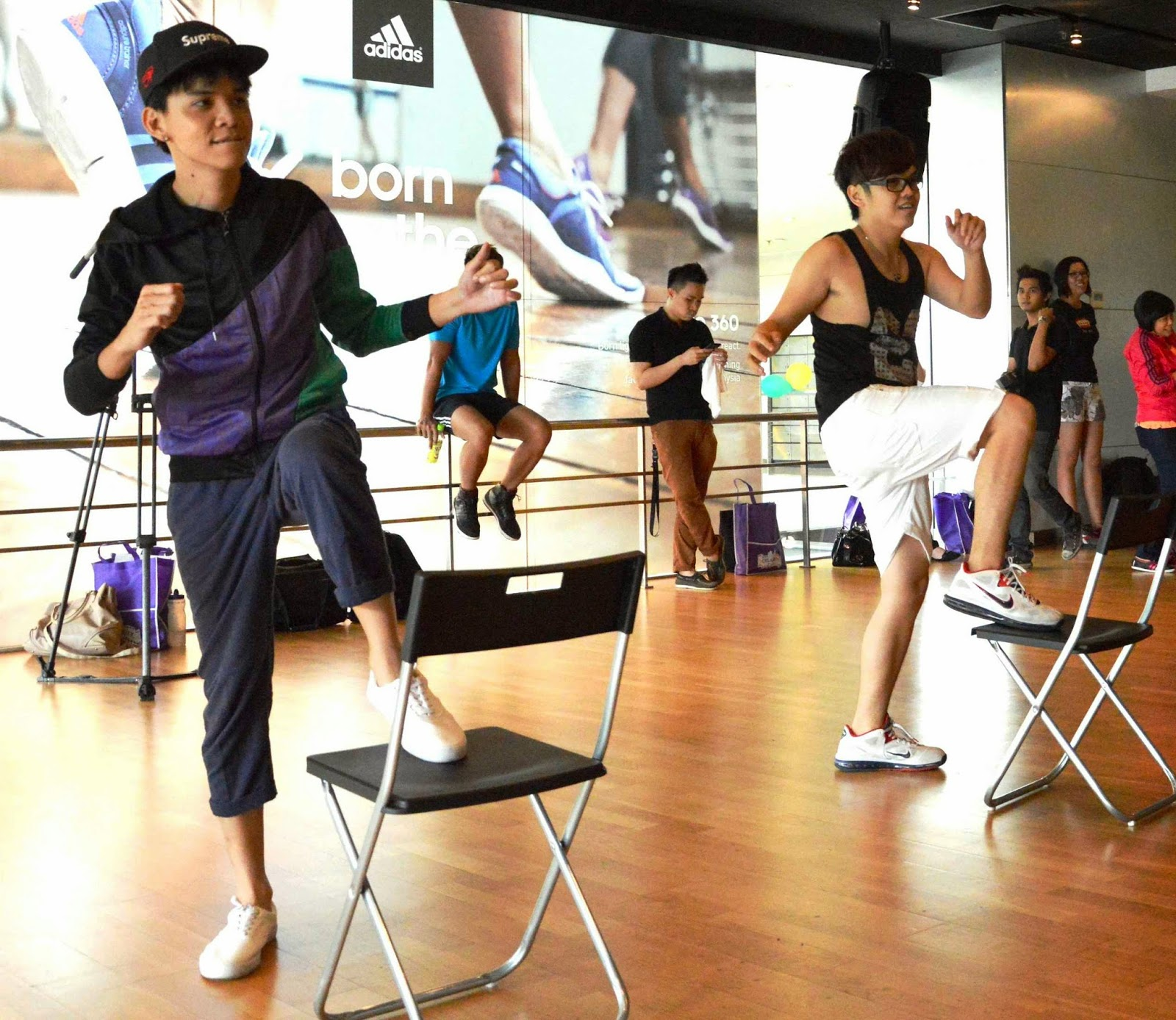gym chair malaysia black office chairs with wheels zumba your way to fitness sizzling new dance partners