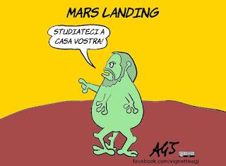 scienza, esplorazione spaziale, insight, sonde spaziali, umorismo, vignetta, satira