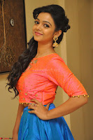 Nithya Shetty in Orange Choli at Kalamandir Foundation 7th anniversary Celebrations ~  Actress Galleries 077.JPG