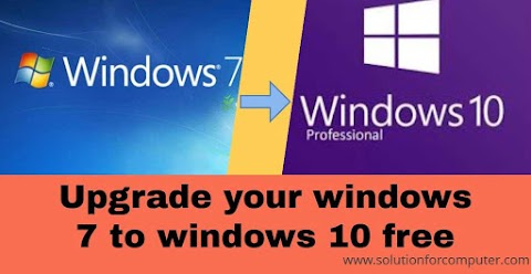 Upgrade your windows 7 to windows 10 free
