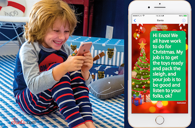 Santa.com Personalized Text from Santa to Enzo