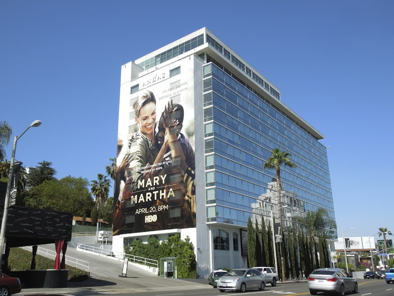 Giant Mary Martha billboard