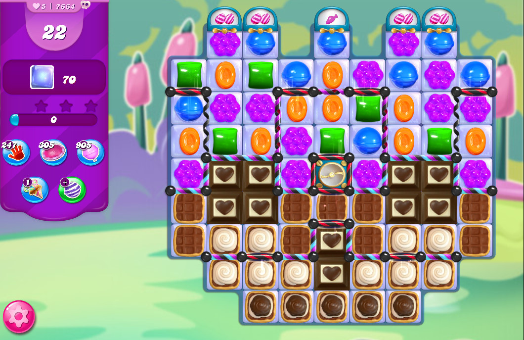 Candy Crush Saga level 7664