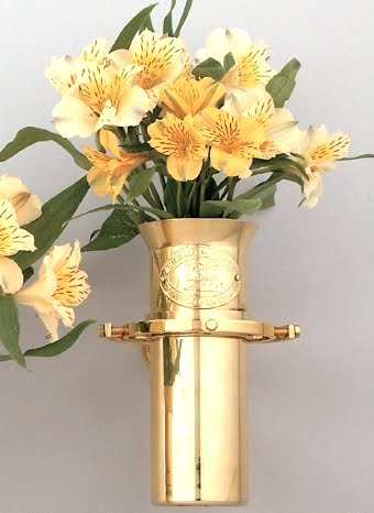 decorating with flowers in nautical vase