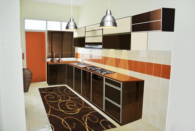 Ruang Dapur Asal Dan Dapaur Selepas Mendapat Sentuhan Zal Dalam Rekaan Beronakan Hitam Zaitun