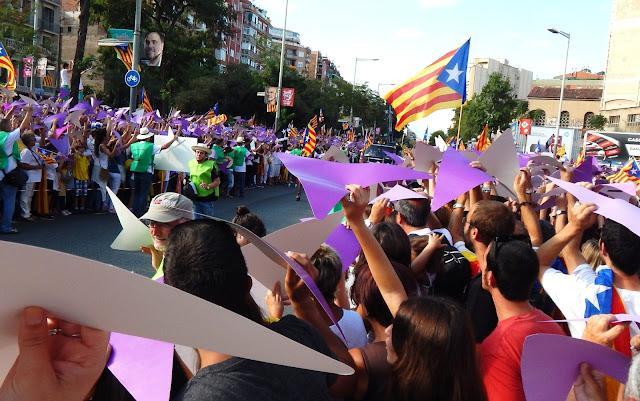 Manifestazione indipendenza Barcellona 2015