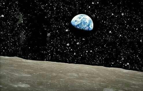 شكل-الأرض-من-سطح-القمر