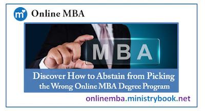 Wrong Online MBA Degree Program