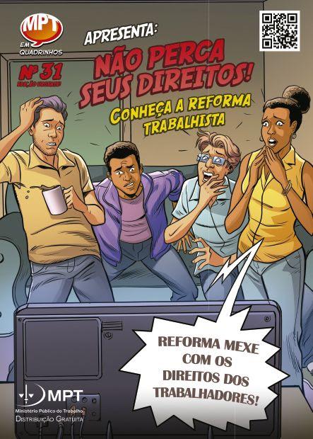 """Reforma Trabalhista é o novo tema da série """"MPT em Quadrinhos"""""""
