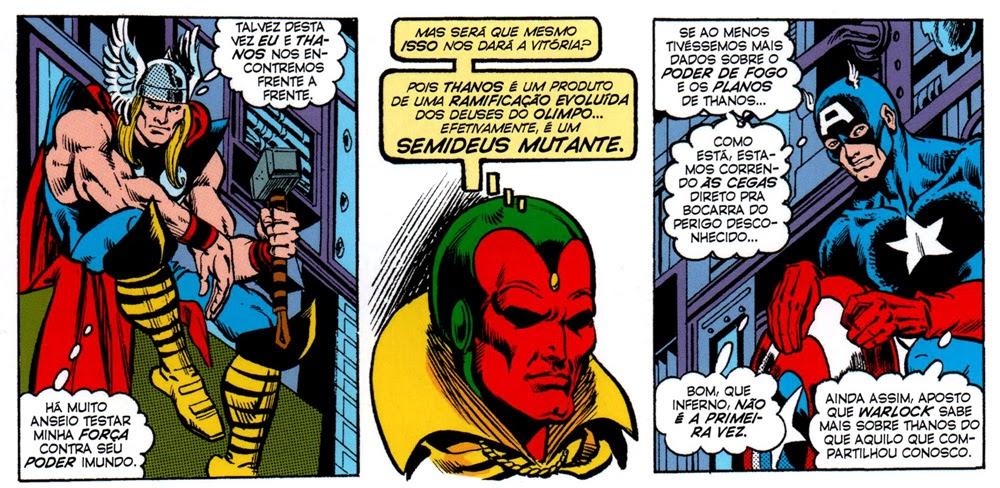 0f67e45c1 Se eu dissesse para aquele moleque embasbacado com a inesquecível Grandes  Heróis Marvel  1 que um dia o mundo inteiro conheceria Thanos...  provavelmente ele ...
