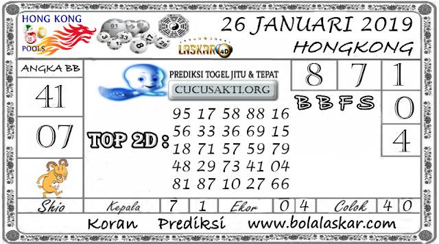 Prediksi Togel HONGKONG LASKAR4D 26 JANUARI 2019