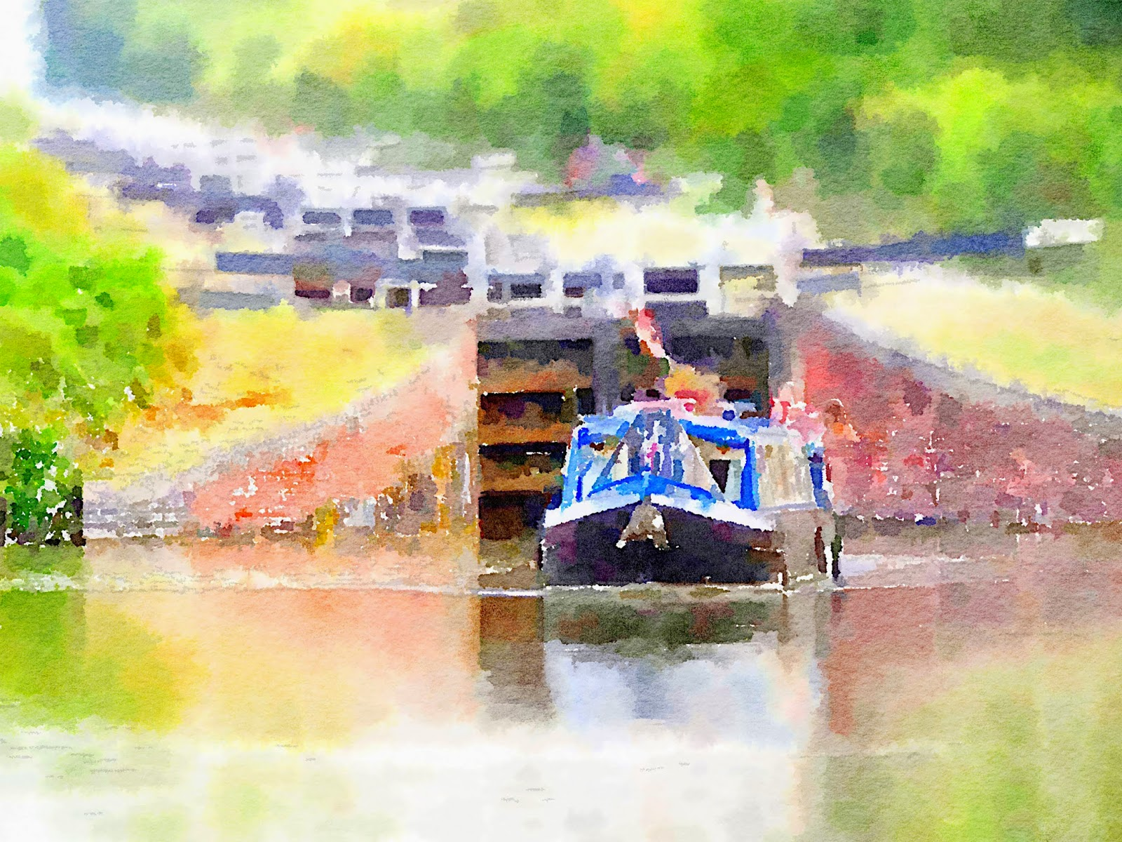 Narrowboat canal boater