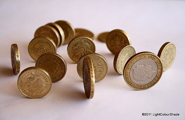 Money rolls (pound coins)