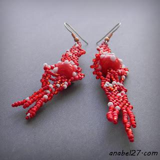 фриформ бисероплетение серьги купить freeform earrings