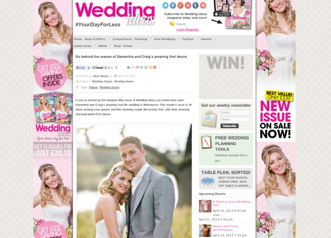 STUDIO 1208 is featured on Wedding Ideas Magazine's blog