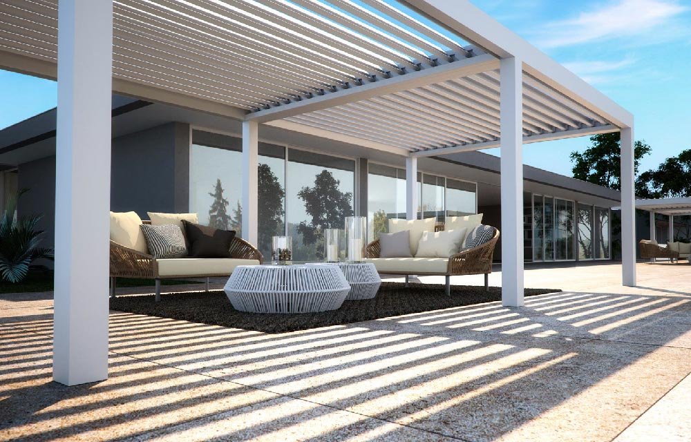 Pergole bioclimatiche per giardini e terrazze
