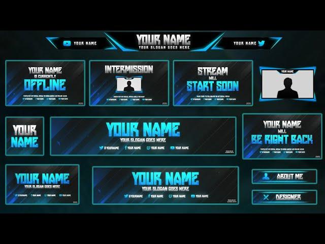 150 Free Stream Overlay Templates Graphic Design Resources