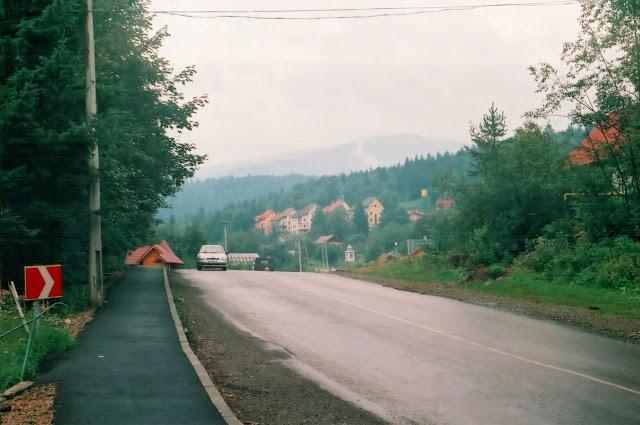Автотрасса в Яремче