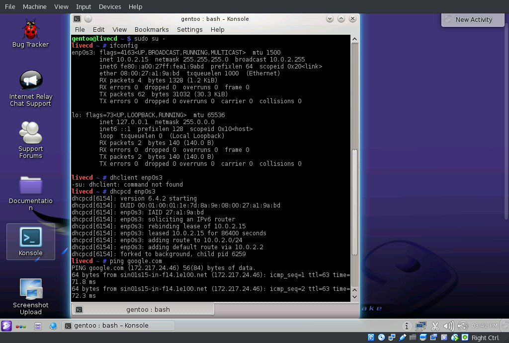How To] Step By Step Installation Guide Linux Gentoo Live DVD 2016