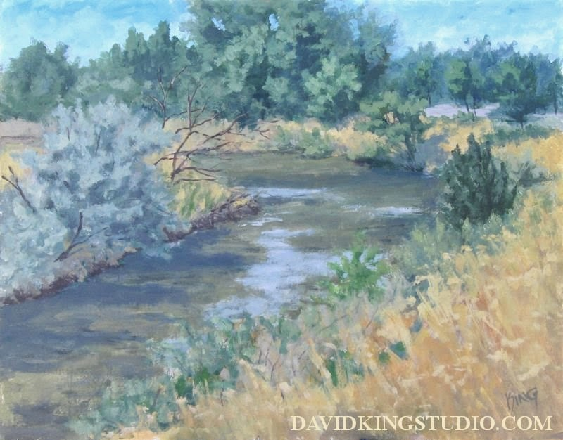 art painting plein air acrylic jordan river parkway
